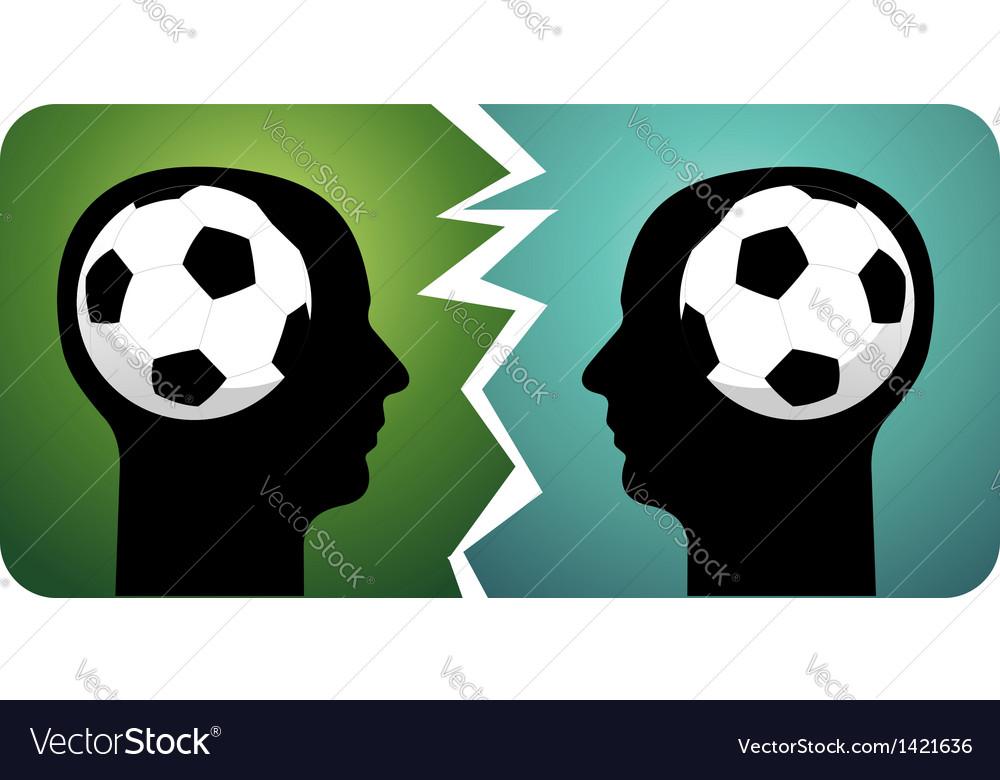 Soccer brains vector image