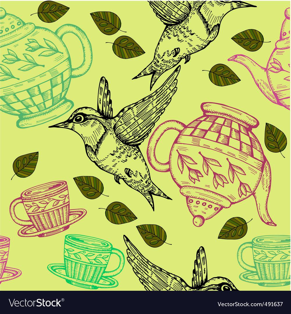 Teapot hummingbird vector image