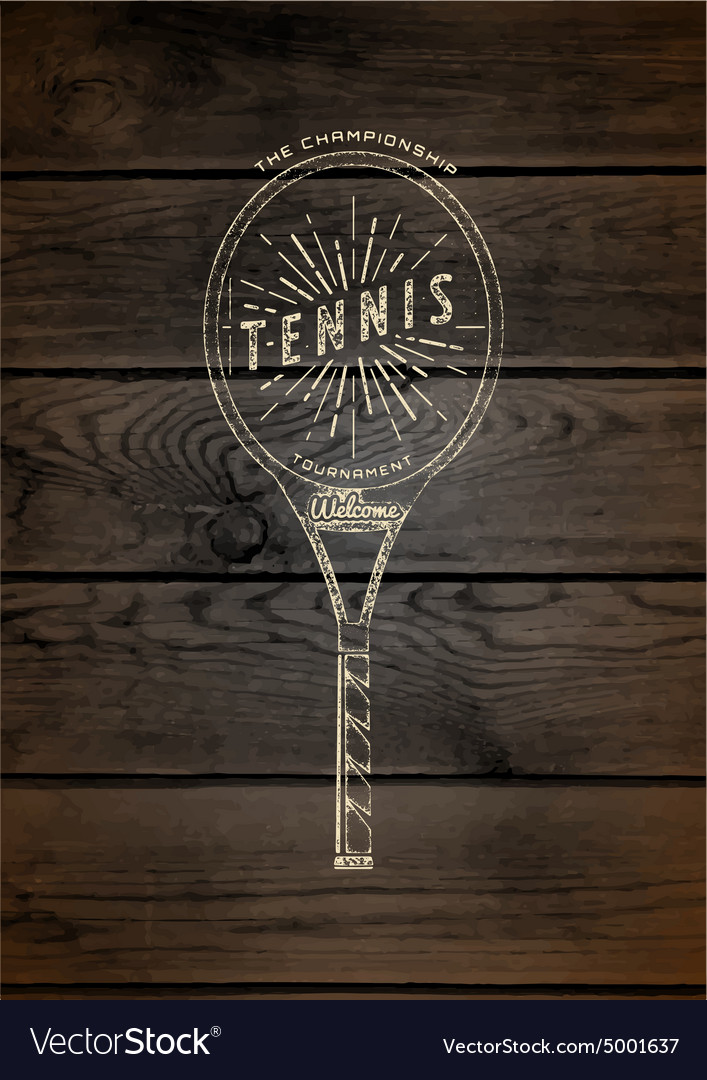 Tennis badges logos and labels for any use vector image