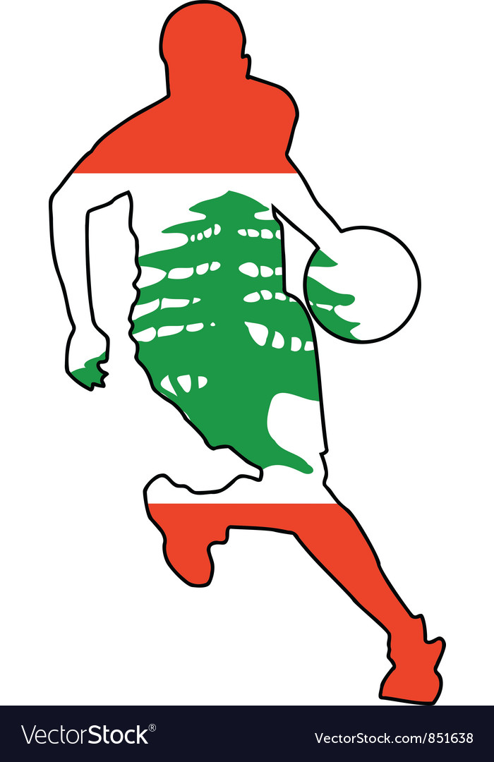 Basketball colors of Lebanon vector image