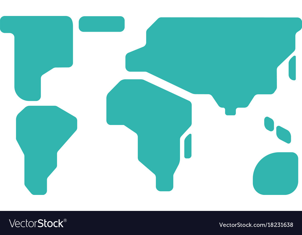 World map sign and icon color map of the world on vector image