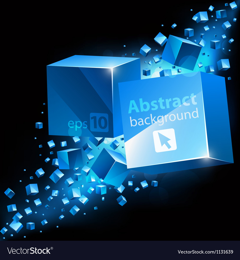 Abstract 3D background with cubes vector image