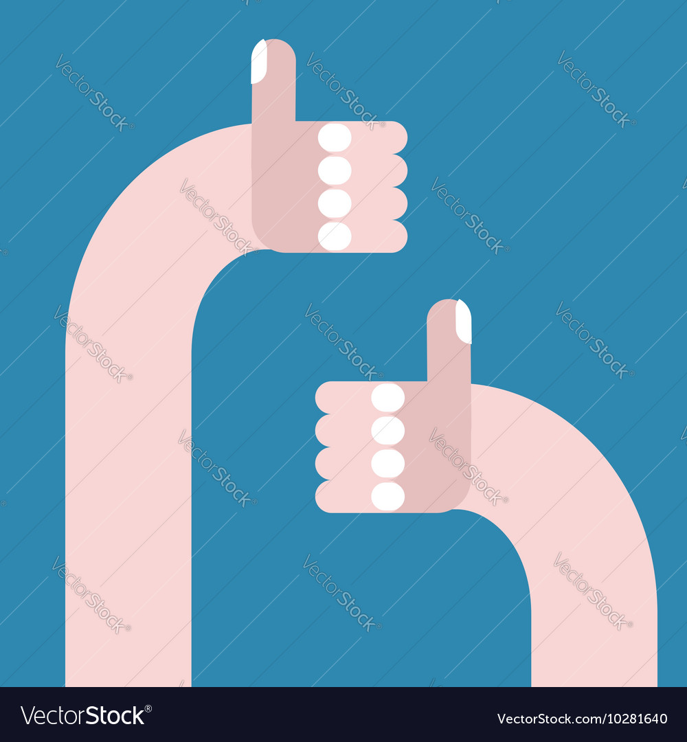 Thumb up sign Hand shows all good vector image