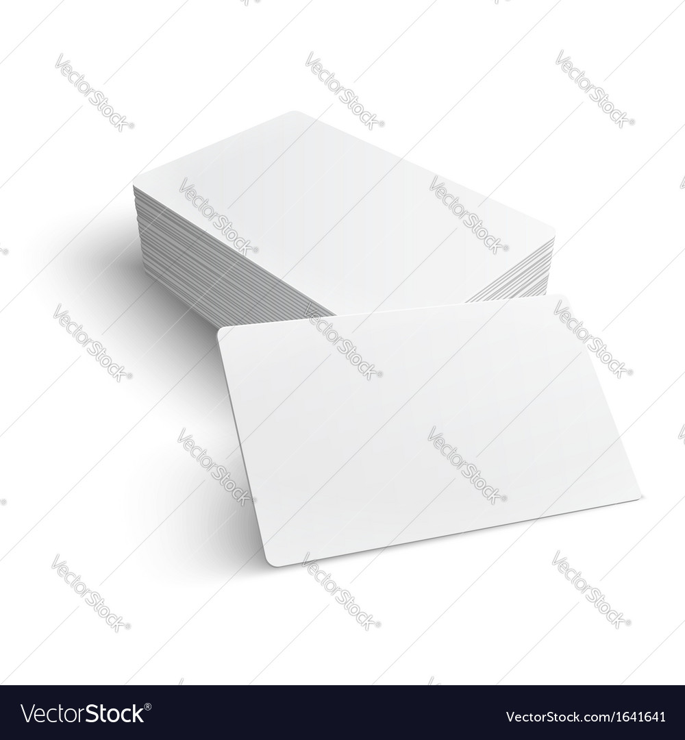Stack of business cards with shadow template Vector Image by ...
