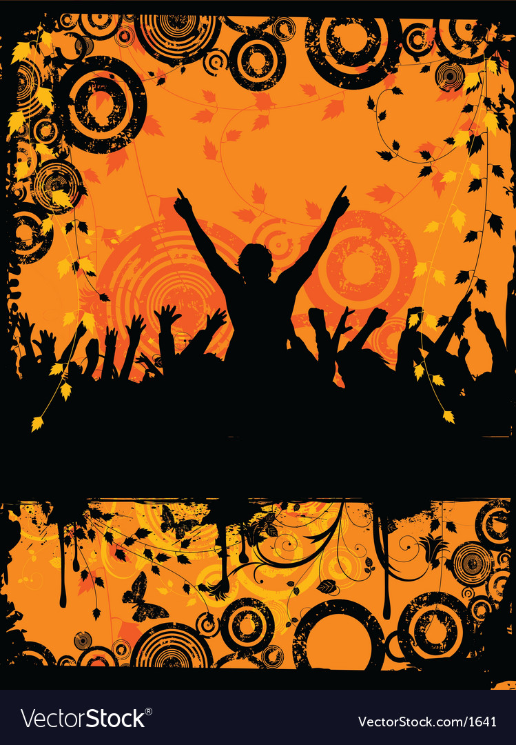 Grunge party time vector image