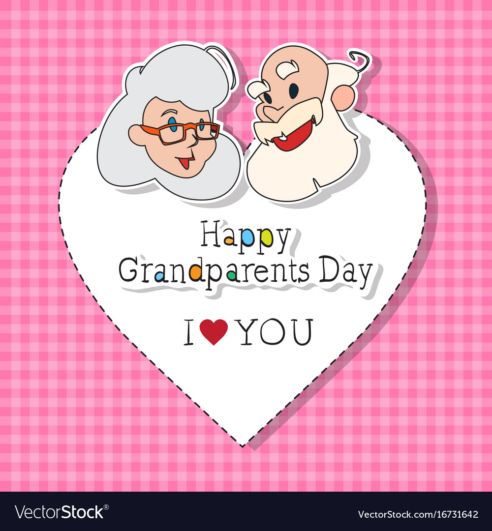 Happy grandparents day greeting card colorful vector image m4hsunfo