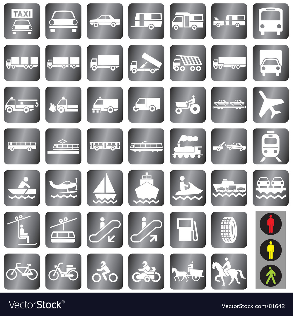 Icons transport vector image
