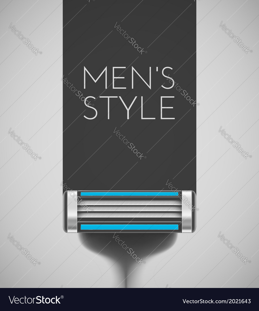 Mens style vector image