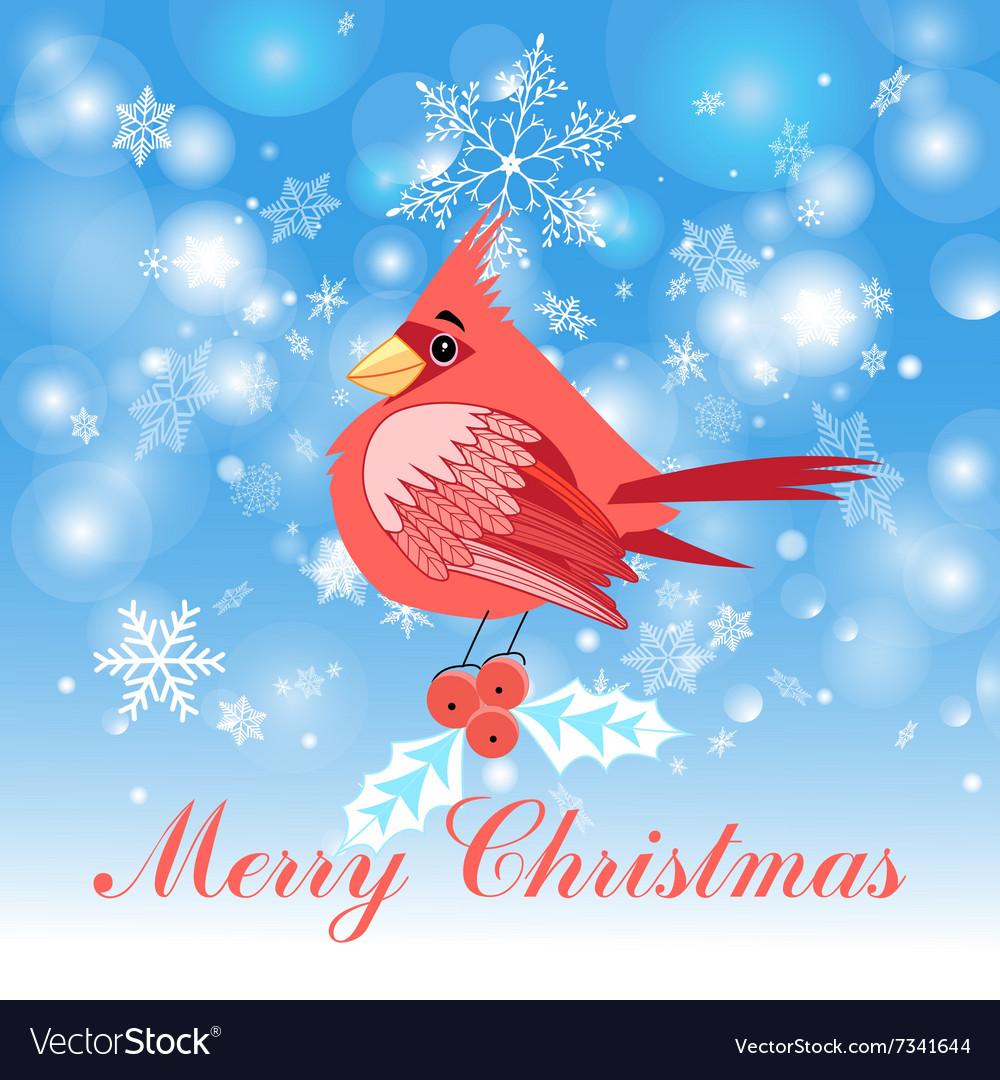Stok-vektor-Cardinal-bird vector image
