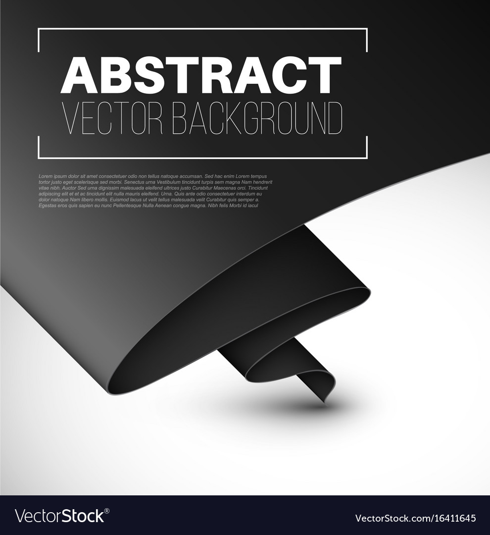 Abstract background with folded black paper vector image