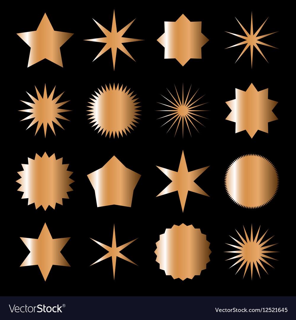 Bronze stars vector image