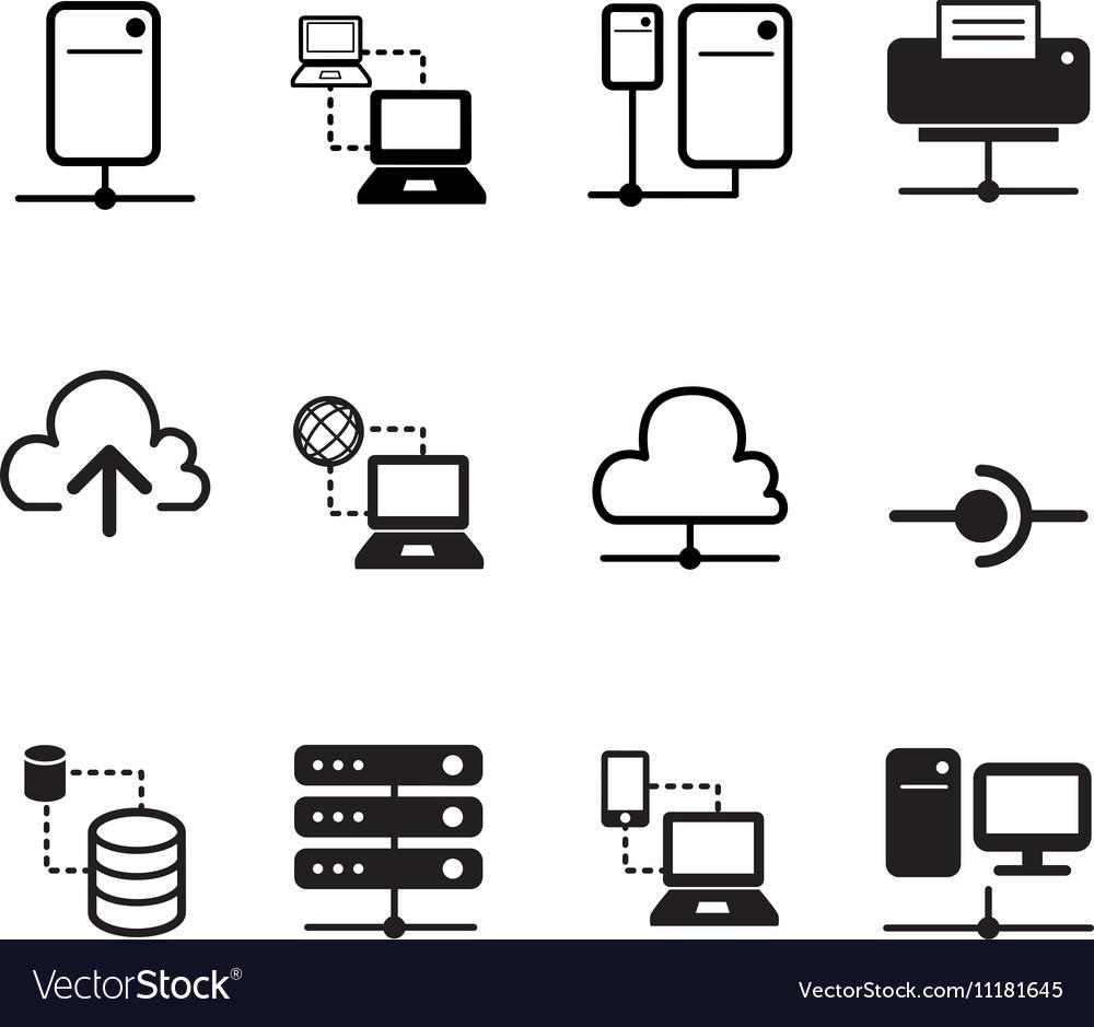 Data sharing hosting Server Cloud Network System i vector image