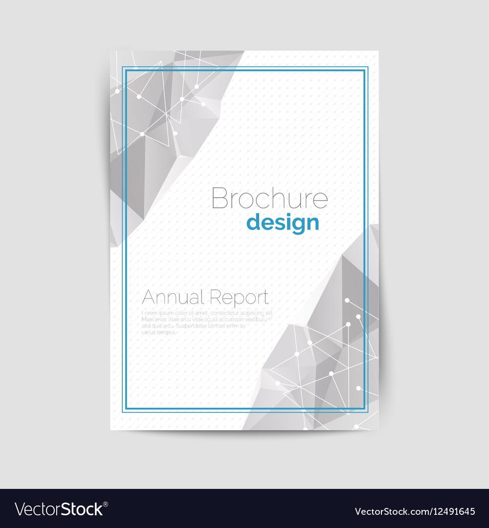 Geometrical brochure A4 vector image