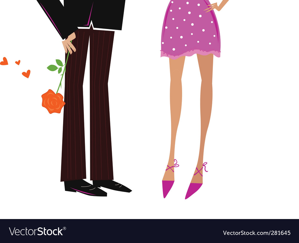 Man giving woman romantic gift vector image