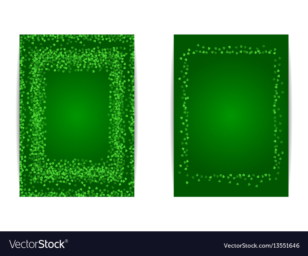 Vertical saint patricks day banner template vector image