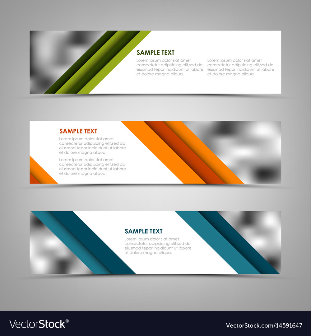 Collection banners with oblique colored stripes vector image