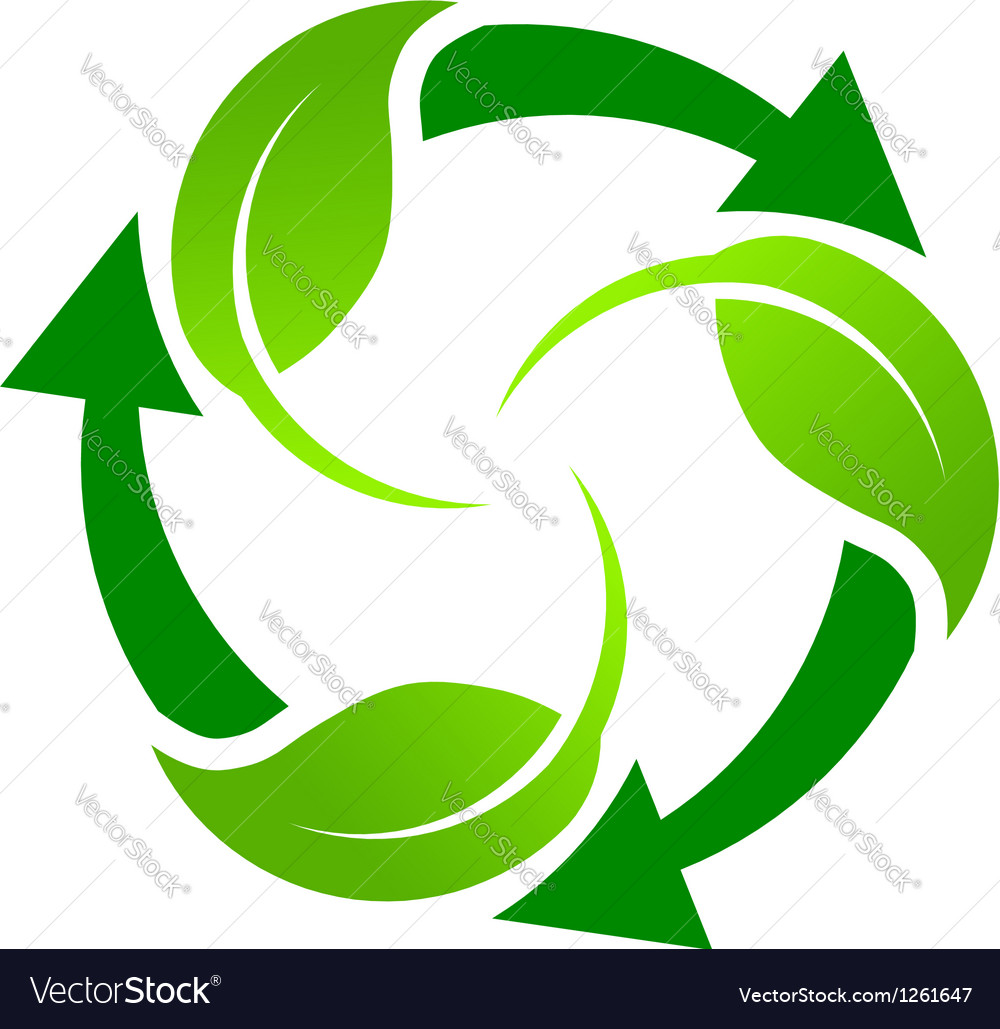 Green Recycle Logo Royalty Free Vector Image Vectorstock