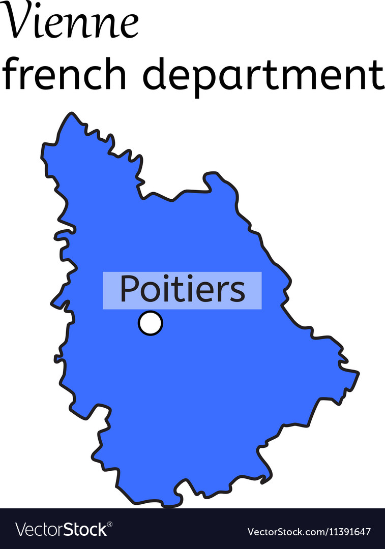 Vienne french department map Royalty Free Vector Image