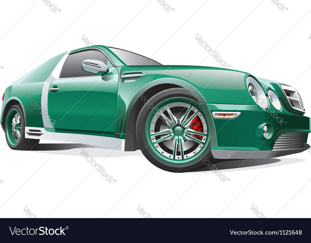 Green dragster vector image