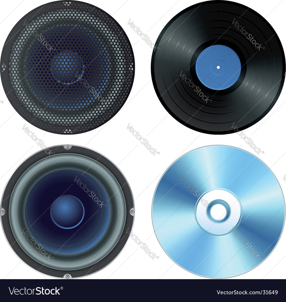 Sound set vector image
