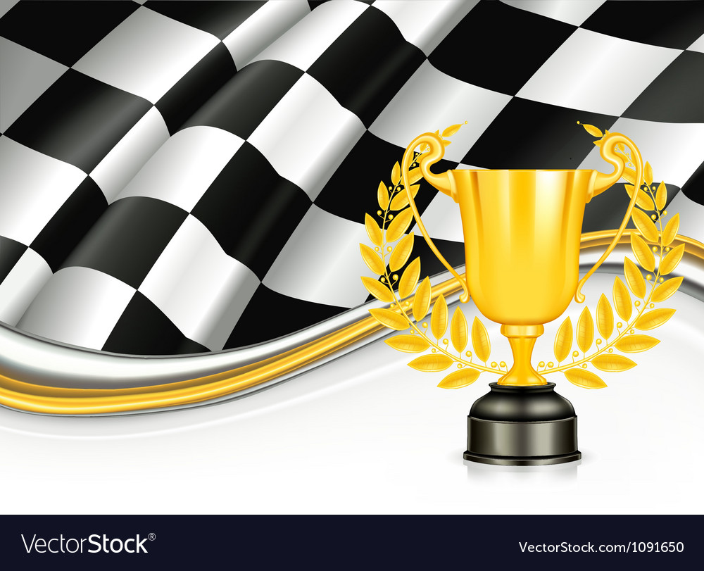 Background with a Trophy vector image