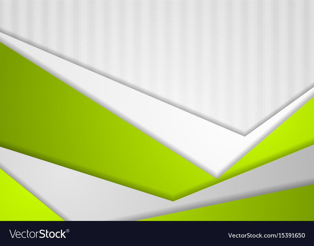 Abstract green grey geometric background vector image
