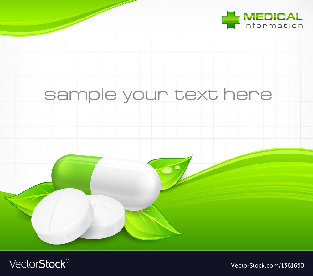 Pills text vector image