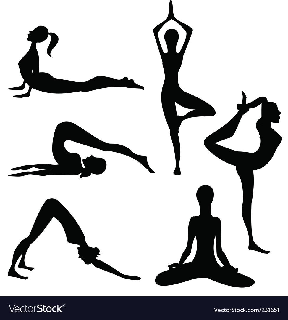 Yoga Vector Image by lindwa - Image #231651 - VectorStock