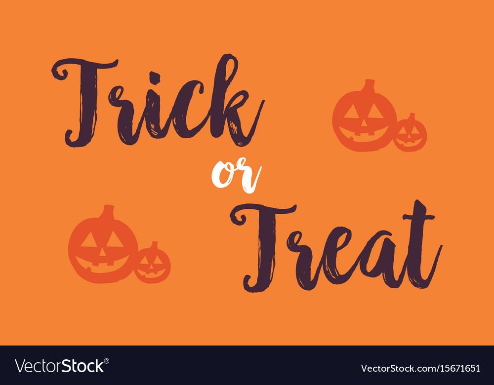 Halloween with pumpkin background card vector image