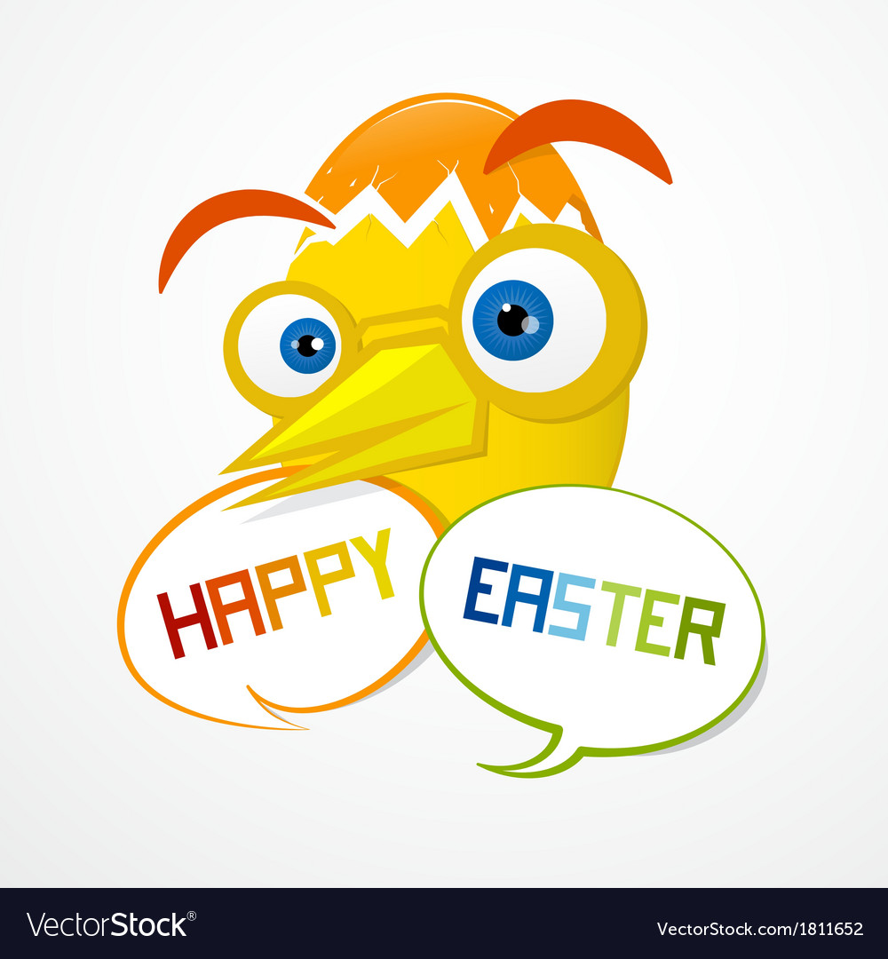 Easter Background Funny Abstract Egg vector image