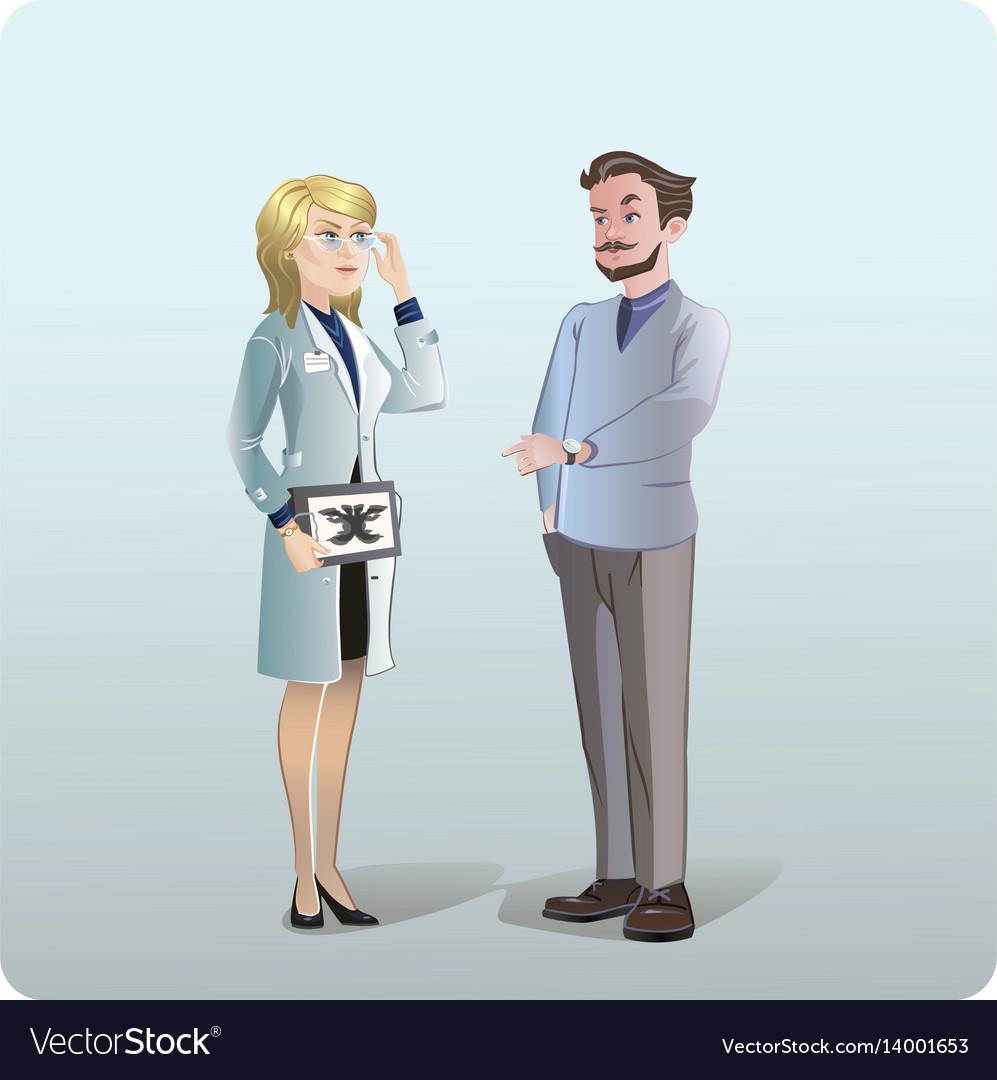 Cartoon medical treatment concept vector image