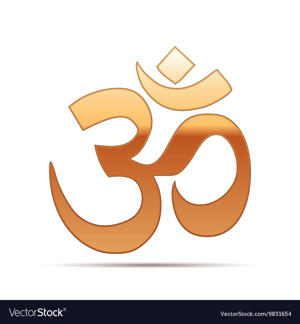 Gold sign om symbol of buddhism and hinduism vector image gold sign om symbol of buddhism and hinduism vector image biocorpaavc