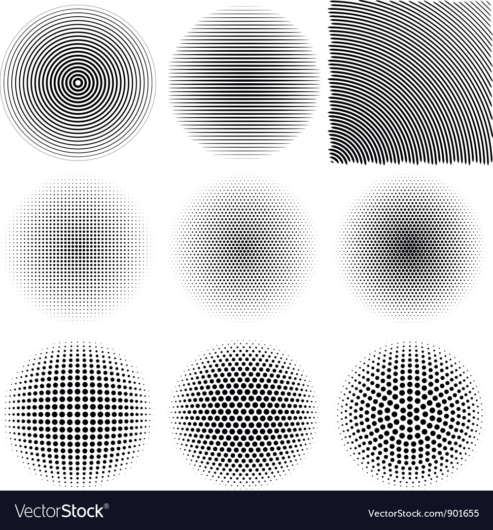 Radial patterns vector image