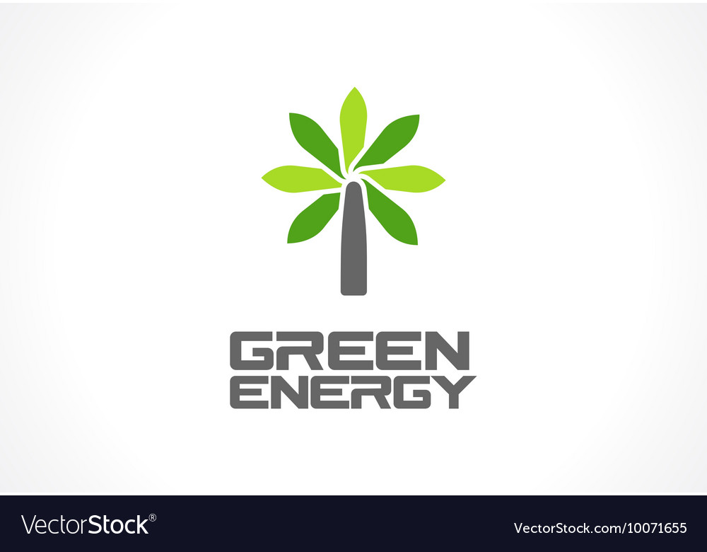 Abstract logo for business company Eco green vector image