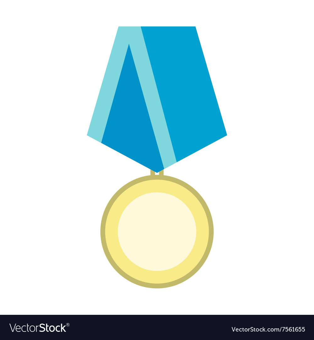 Medal military flat icon vector image