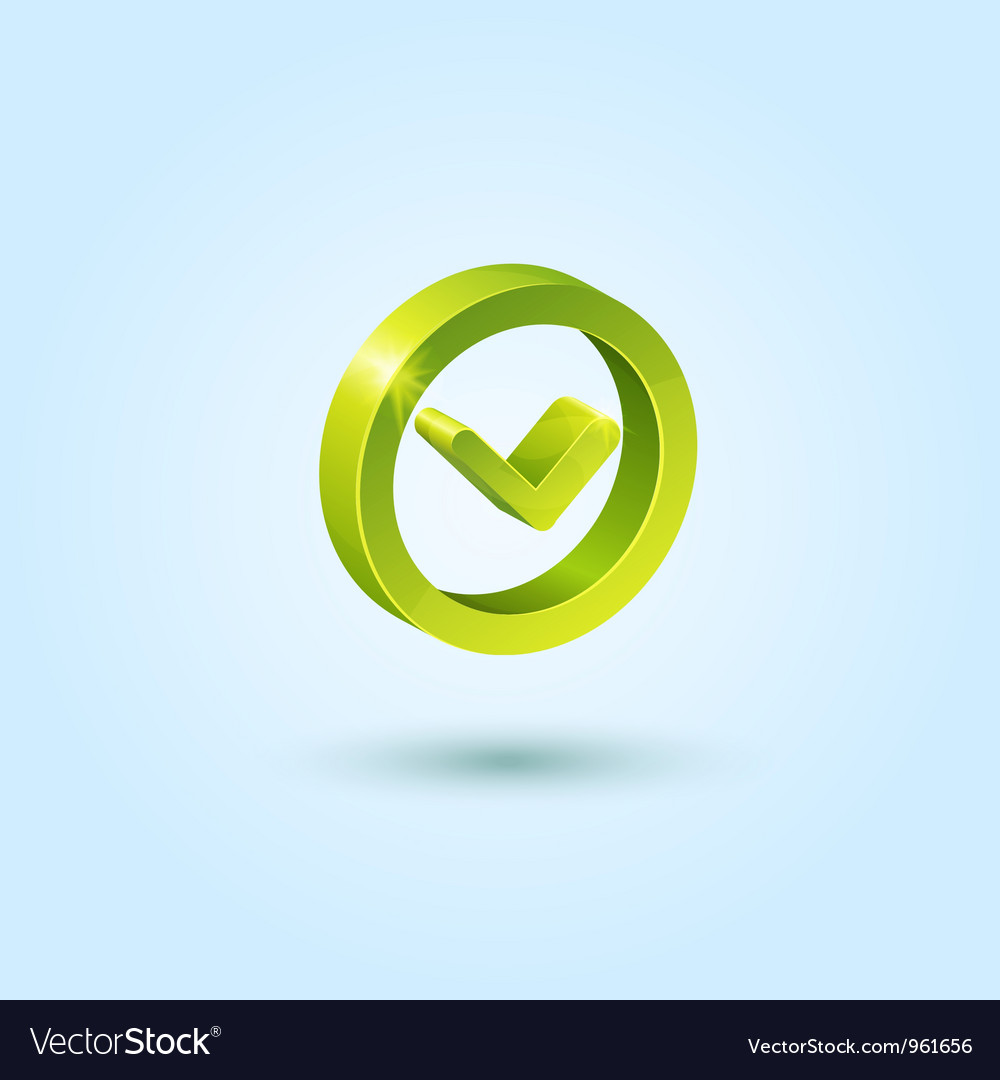 Green clock icon vector image