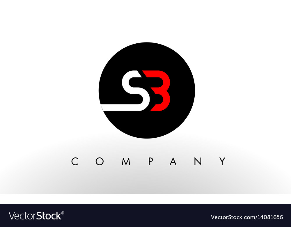 Sb logo letter design vector image