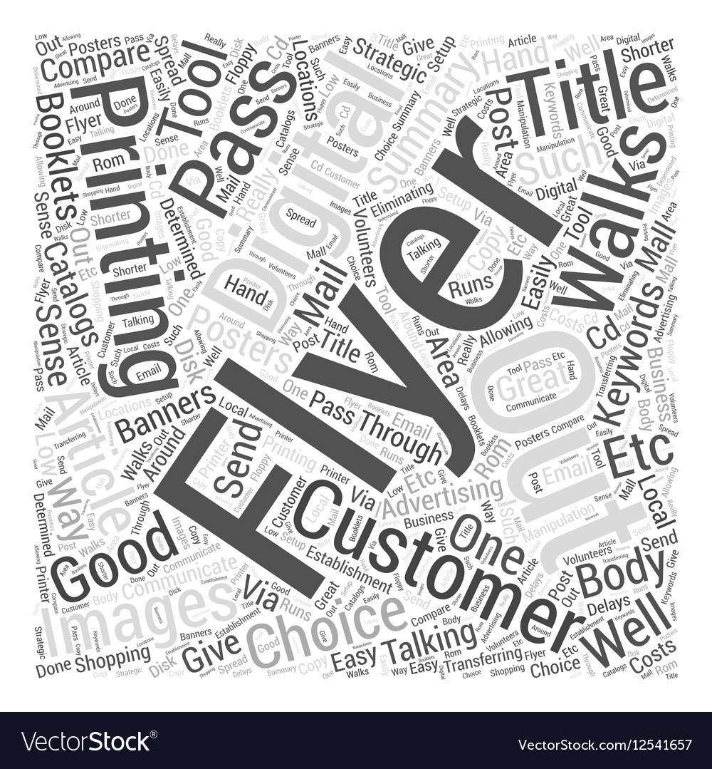 Why Flyer Is A Good Choice Word Cloud Concept vector image