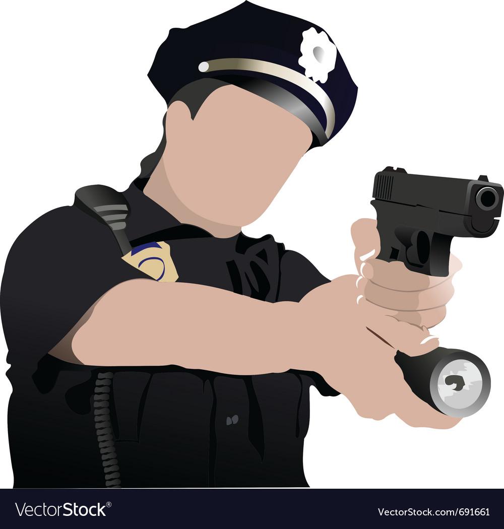 police royalty free vector image vectorstock