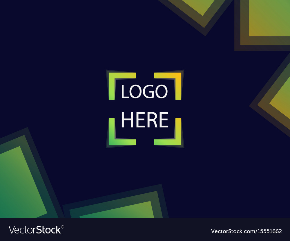 Background with square focus for signs or logo vector image