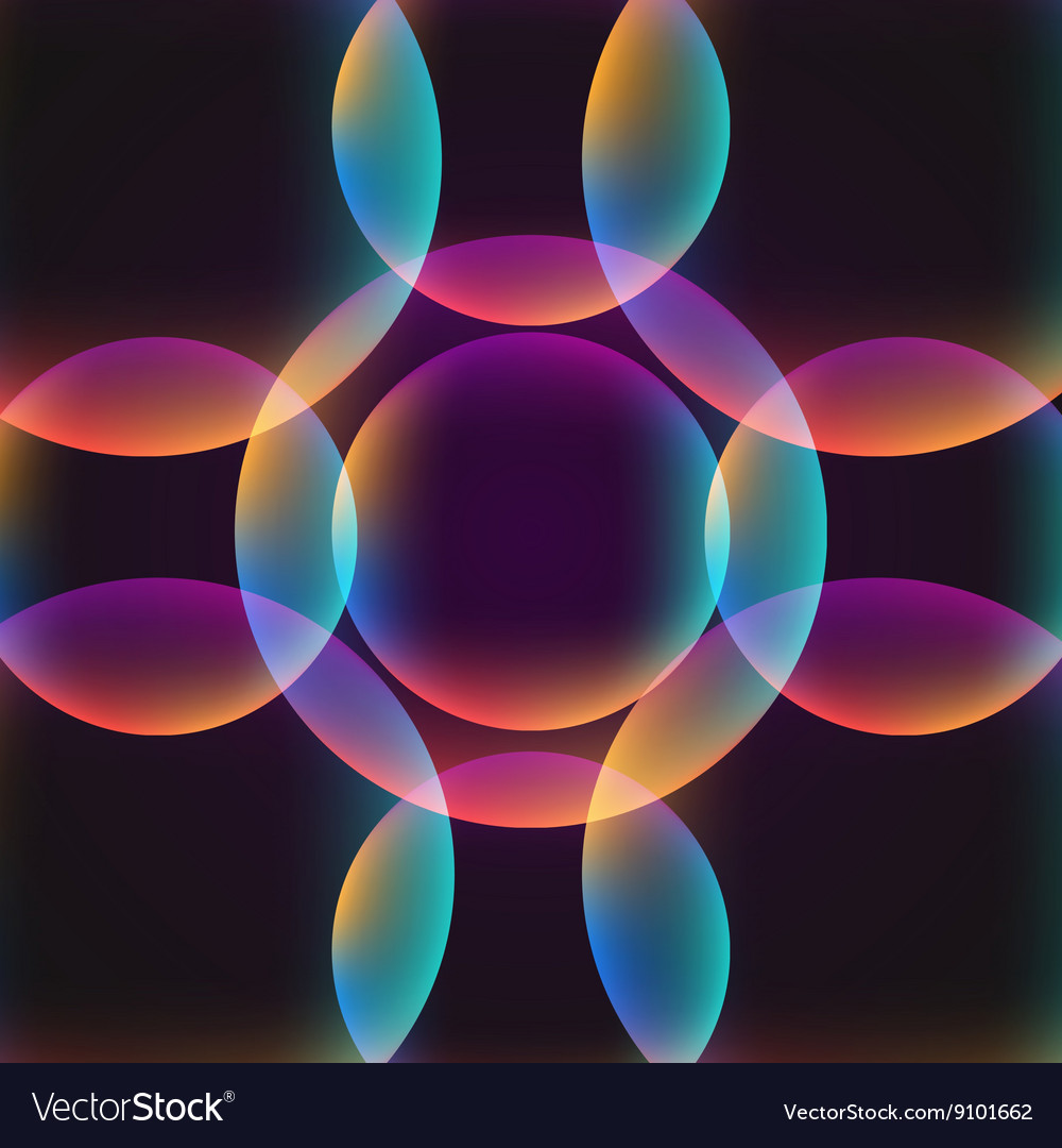 Circle abstract vibrant background vector image