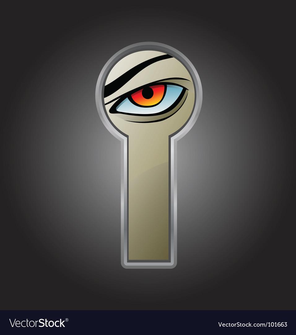 Keyhole door vector image
