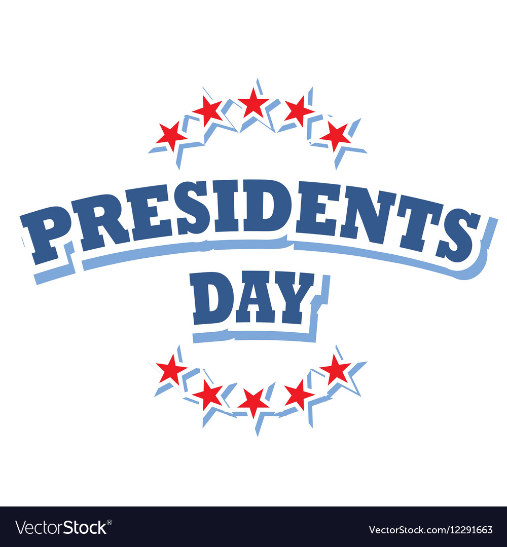 Presidents Day USA logo symbol isolated vector image