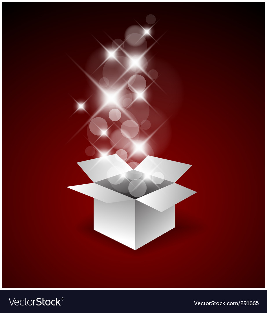 Magic gift box Vector Image