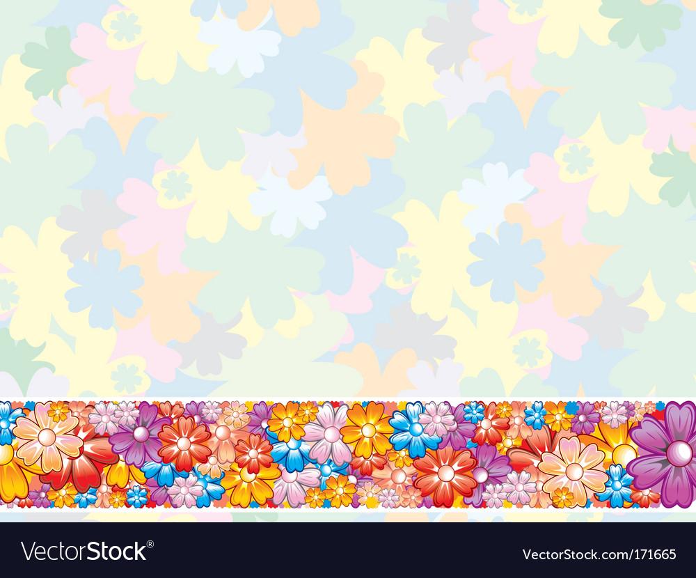 Floral pastel background vector image