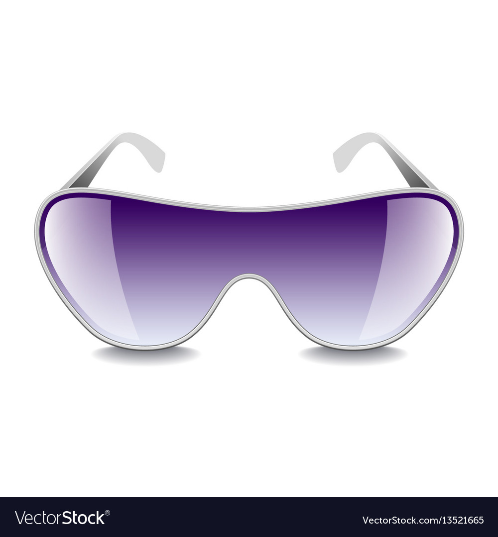 Purple sunglasses isolated on white vector image