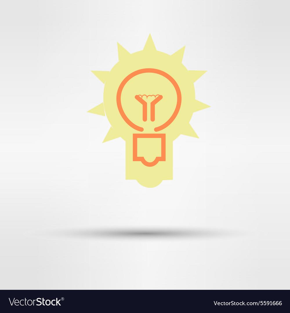 Light sign ideas web icon design vector image
