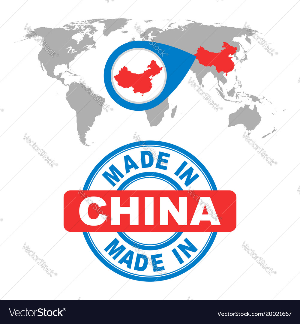 Made in china stamp world map with red country vector image made in china stamp world map with red country vector image gumiabroncs Choice Image