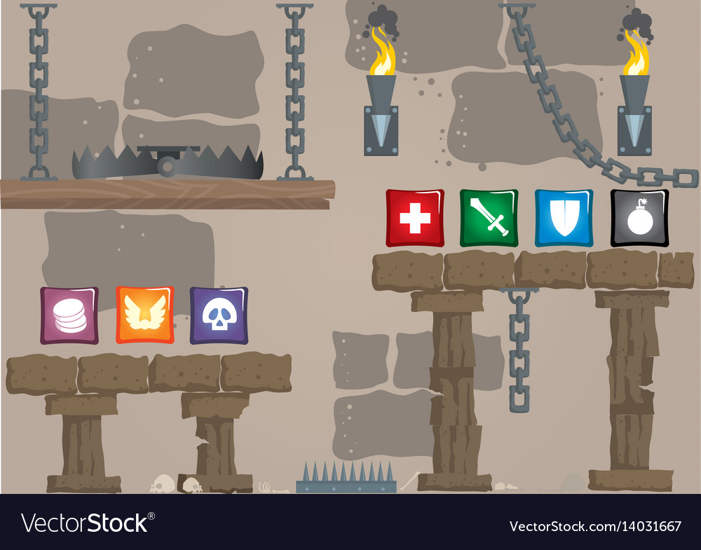 Old style game vector image