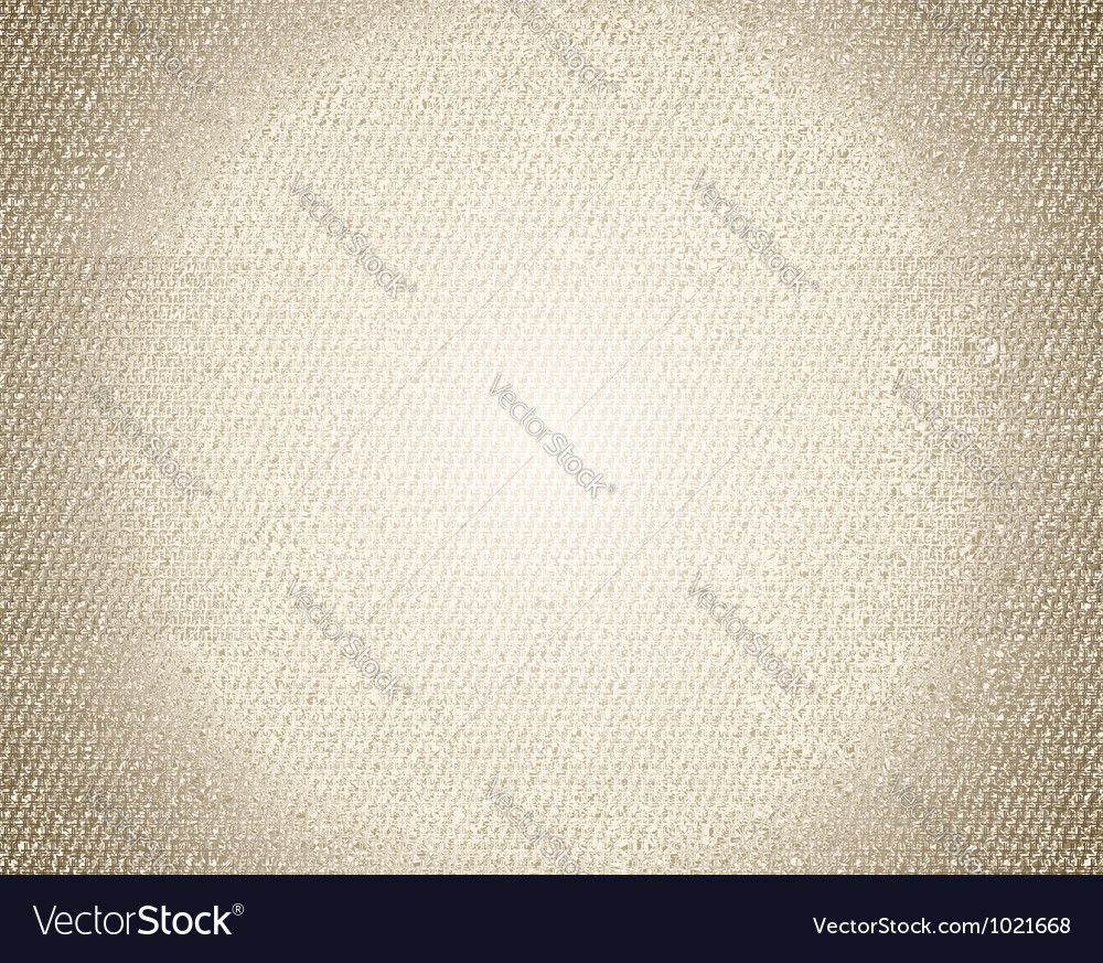 Old canvas texture grunge background vector image
